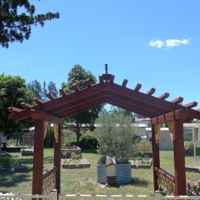 Community Garden and Memorial to a speciallady.